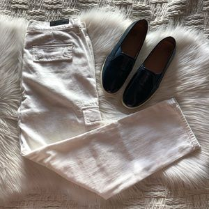 J Brand Dylan Slim Cargo Jeans in Pure White